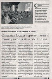 arte film en España, festival de cine ambiental zaragoza, festival de No Violencia y Medio Ambiente