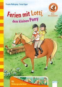 """Buchcover """"Ferien mit Lotti, dem kleinen Pony"""""""