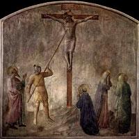 Fresce von Fra Angelico ( um 1437-1446 ) St. Longinus mit der Lanze