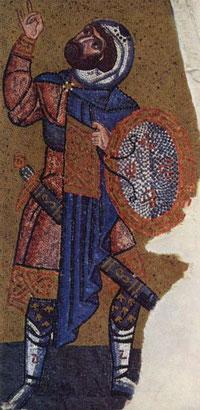 Mosaik des Longinus in der griechischen Kirche Nea - Moni in Chios