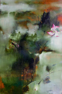 霞光雾霭 SUNGLOW 150X100CM 布面油画 OIL ON CANVAS 2006 (收藏于香港 COLLECTED IN HONG KONG)