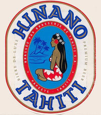 """Hinano"" beer from Tahiti"