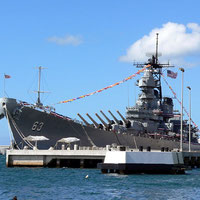 "Pearl Harbor, Honolulu/Oahu - Hawaii - Battleship ""Missouri"", near the sunk ""Arizona"" (December 7th, 1941) - I visited both !!"
