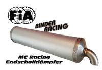 MC Racing Endschalldämpfer
