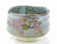九谷焼『抹茶碗』ソメイヨシノ