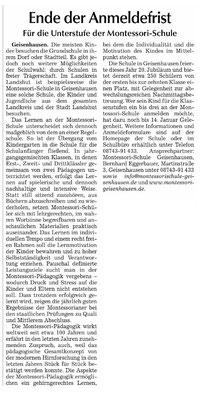 Erschienen in Hallertauer Zeitung, Rottenburger Anzeiger, Landshuter Zeitung, Vilsbiburger Zeitung, Moosburger Zeitung am 3.1.2015