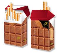 Zigarettenschachtel-Überzieher mit Pfiff