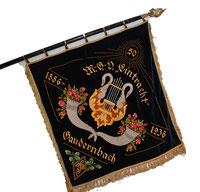 Wappen und Fahne des MGV