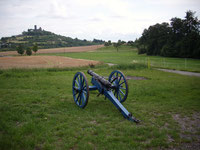 Unsere Kanone im Gleibergerfeld