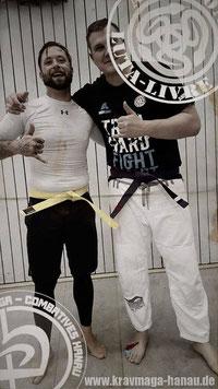 Krav Maga Hanau - Andyconda Luta Live Yellow Belt für Patrick