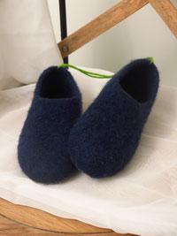 Filzschuhe für Teenies und Damen Groesse 37 marineblau