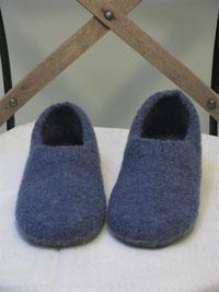 Filzschuhe für Damen Groesse 40 jeansblau