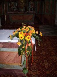 Altargesteck Goldene Hochzeit
