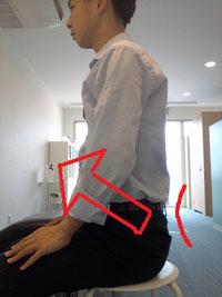 腰椎椎間板ヘルニア予防の座り方