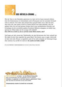 Krimigeschichte Lösung - 3. Mülheimer Schaufensterwettbewerb