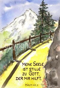 Berg Tanne Weg Psalm 62,2