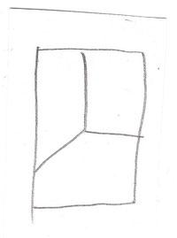 Bleistiftzeichnung, 10 x 8cm