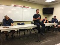 Captain Fire Chief Rob Kaplan van de Boulder Rural Fire Department
