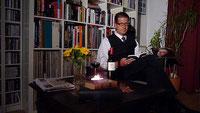 Autor Lars Gebhardt bei einer privaten Lesung