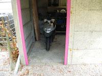 garage pour le scooter