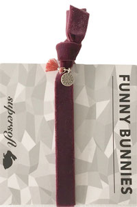 1 elastisches Samt Armband mit Tassel und Anhänger Velvet 03