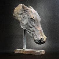 Horse's head | bronze | Alexandra Kapogianni-Beth | www.bildhauerwerke-ak.de