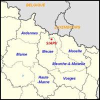 SIAPV Lorraine , région Grand Est, Belgique , Luxembourg