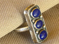 Lapis/Sterling Ring