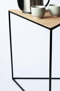 driehoekige bijzettafel, meubelontwerp