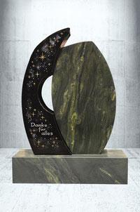 Grabstein mit Ornament Swarowski & Nebel