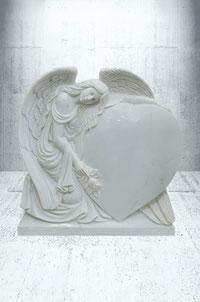 Grabstein Engel mit Taube