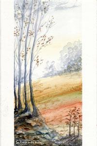 Herbstaquarell     - Herbstlich -  Aquarellkarte