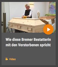 """Bestatterin Ulrike Henning, Video: """"Wie diese Bestatterin mit den Verstorbenen spricht"""""""