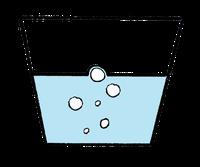 Seifenwasser legt sich um Luftblase