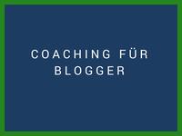 """blaues feld bezeichnet """"coaching für Blogger"""""""