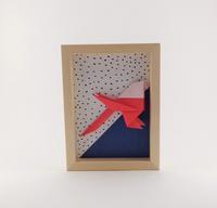 Cadre origami Mésange - Format 13x18cm - 25€