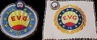 Teilnahmeabzeichen 10 und 75 EVG
