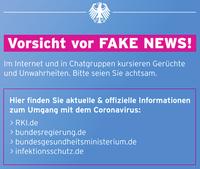 Vorsicht vor Fake News bezüglich des Corona-Virus