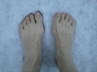 Foto Füße im Schnee