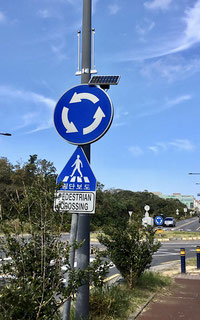 Solar powered traffic signs