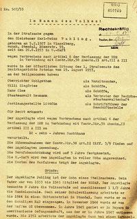 Auszug aus dem Urteil. Quelle: BStU, MfS, BV Potsdam, STA 5187, Bd. 1, Seite 60