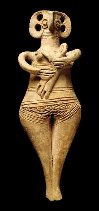 Estatuilla femenina hallada en  Chipre.