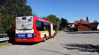 Der RBB - Bahnbus in St. Andreasberg, hier steht der Bahnhof von Zahradbahn Mariechen immer noch!