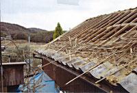 平板瓦 葺き替え工事の様子