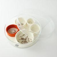 Schmuckschale Schmuckaufbewahrung aus Glas und Filz Design Minimalismus