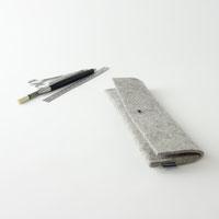 Stiftemäppchen aus Filz mit Knopfniete