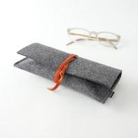 Brillenetui aus filz zum binden