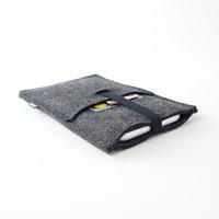 Handyhülle aus Filz mit Einstecktasche für Smartphones