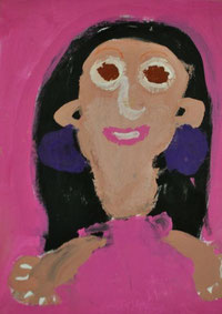 Selbstportrait eines achtjährigen Roma-Mädchens, entstanden 2014 in Nürtingen, alle Rechte vorbehalten!