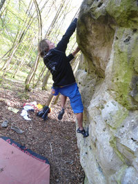 Bouldern Dollnstein am 17.4.14